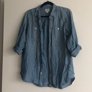 Chambray boyfriend shirt